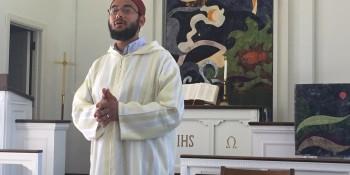 Imam Hassan speaks in Allee Chapel on compassion Source: Laurel Fraser